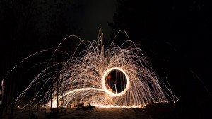 Steel wool action